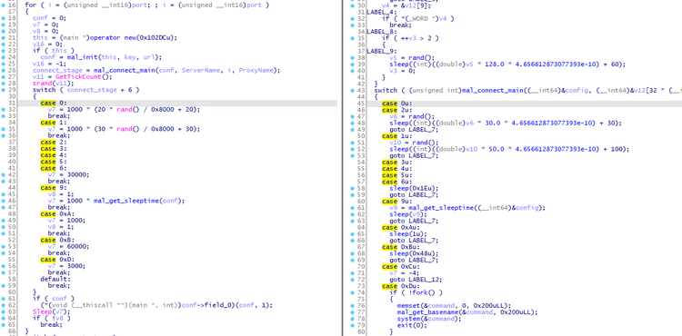 Code comparison of PLEAD module and ELF_PLEAD