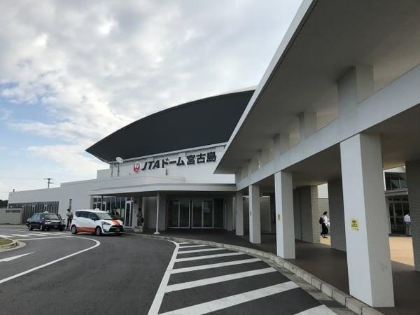競技会場のJTAドーム宮古島