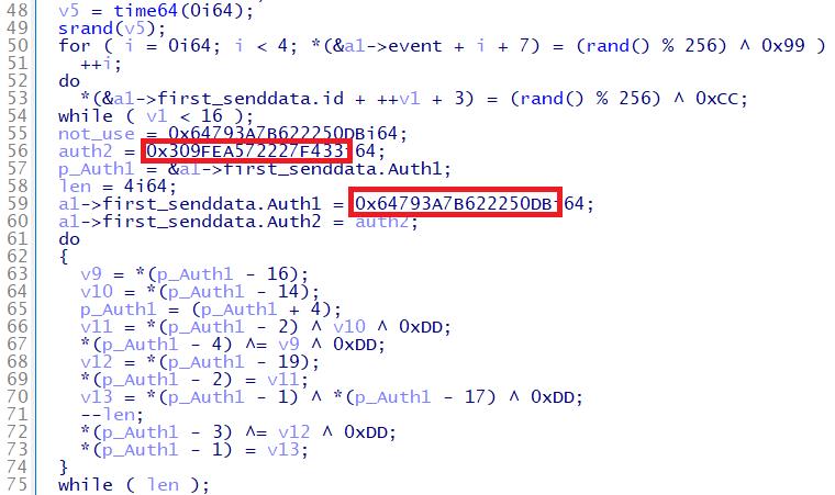 Gh0stTimesの認証IDの例