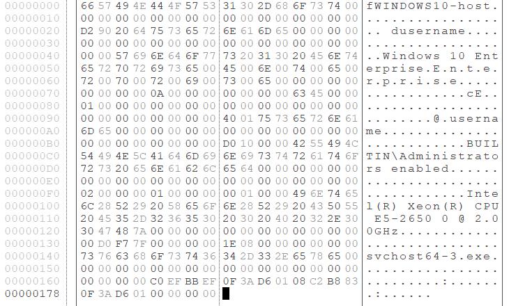 Gh0stTimesが送信する感染ホストの情報