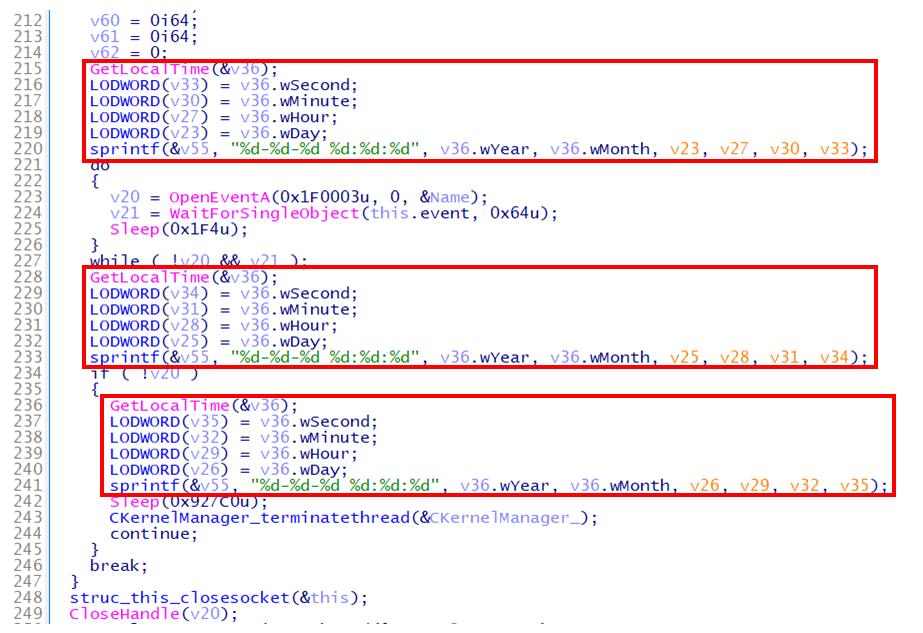 Gh0stTimesに含まれるダミーコードの例