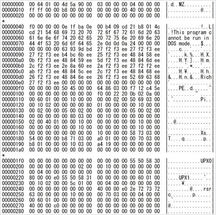 ダウンロードされたモジュールのデコード結果